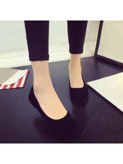 Place Toe Slip On Chaussures Plates - Noir 39