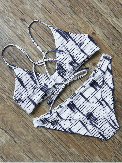 shops Strappy Striped Bikini Set - COLORMIX L Mobile