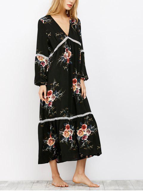 new Crochet Trim Maxi Dress - BLACK XL Mobile