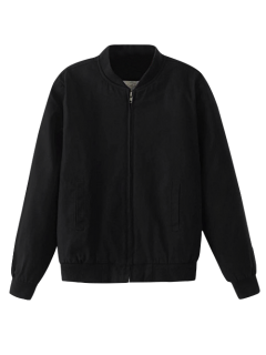 Thick Bomber Jacket - Black M