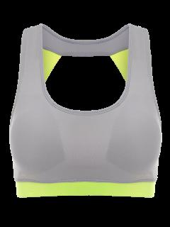 Running Color Block Sports Top - Neon Green Xl