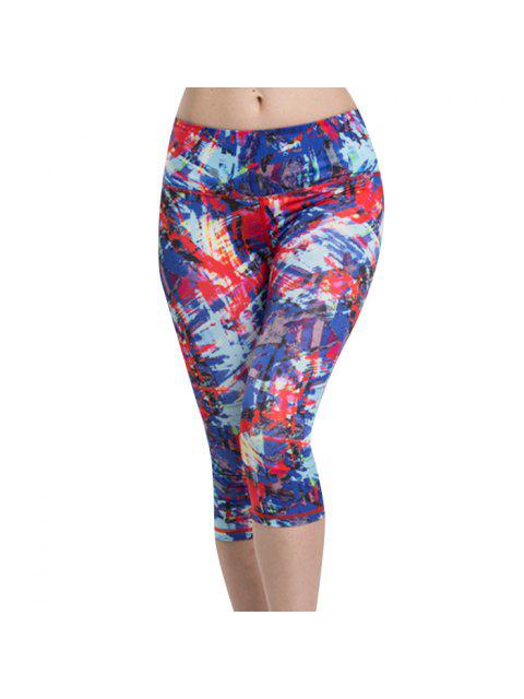 womens Capri Leggings - COLORMIX L Mobile