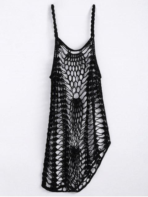 best Cut Out Crochet Cover Up - BLACK S Mobile