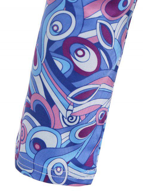 fashion Butterfly Pattern Bodysuit - BLUE XL Mobile