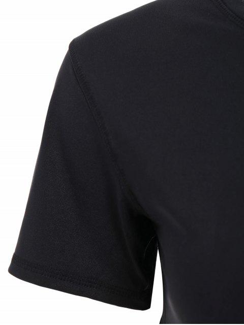outfits Fishnet Panel Sports T-Shirt - BLACK S Mobile