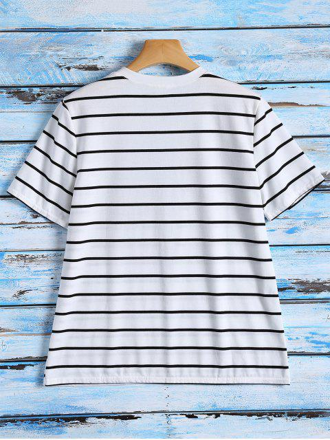 sale Striped Graphic T-Shirt - STRIPE XL Mobile