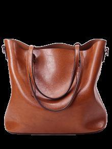 أبازيم بو الجلود حقيبة الكتف المعدنية -