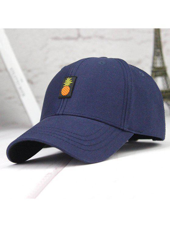 قبعة بيسبول مزينة بأناناس - ازرق غامق