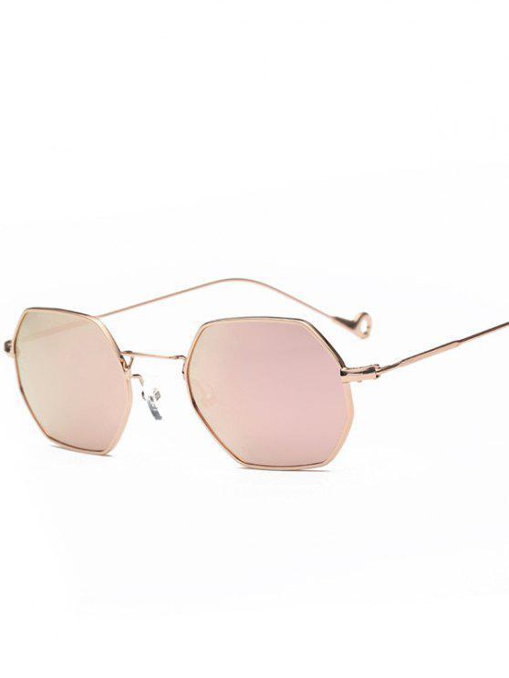 الجوف خارج الساق مضلع مرآة النظارات الشمسية - GLOD الإطار + الوردي عدسة