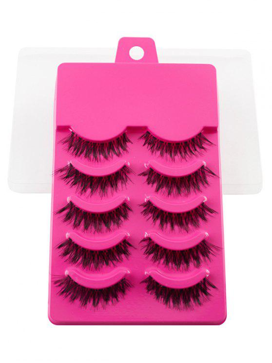 new 5 Pairs Dense Fake Eyelashes - TUTTI FRUTTI