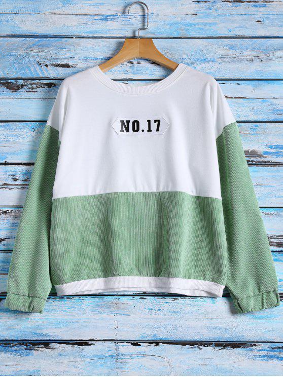 NO.17 de bloque del color de la camiseta - Blanco Única Talla