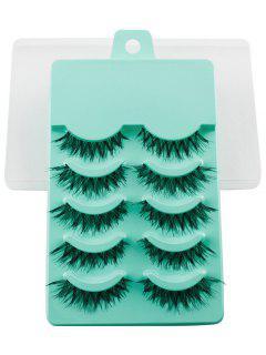 5 Pairs Dense Fake Eyelashes - Emerald