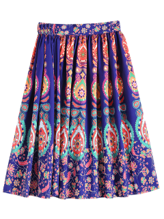Retro Pattern Ball Gown Skirt - S