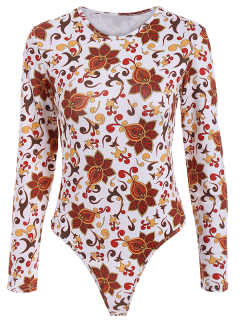 Floral Pattern Bodysuit - Floral S