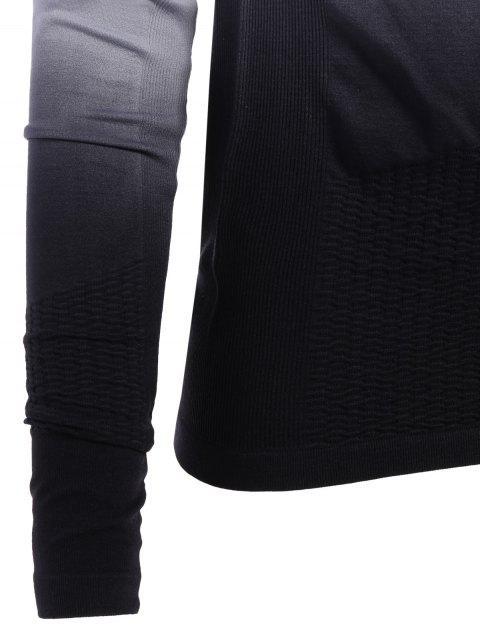 women's Activewear Ombre Zip Up Hoodie -   Mobile