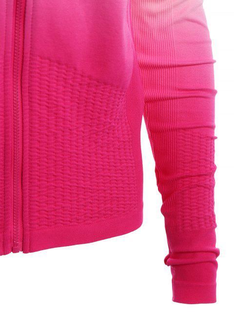 new Activewear Ombre Zip Up Hoodie -   Mobile