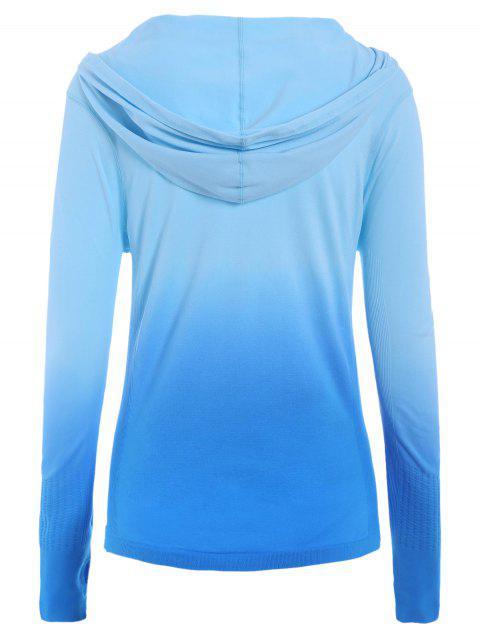 lady Activewear Ombre Zip Up Hoodie -   Mobile