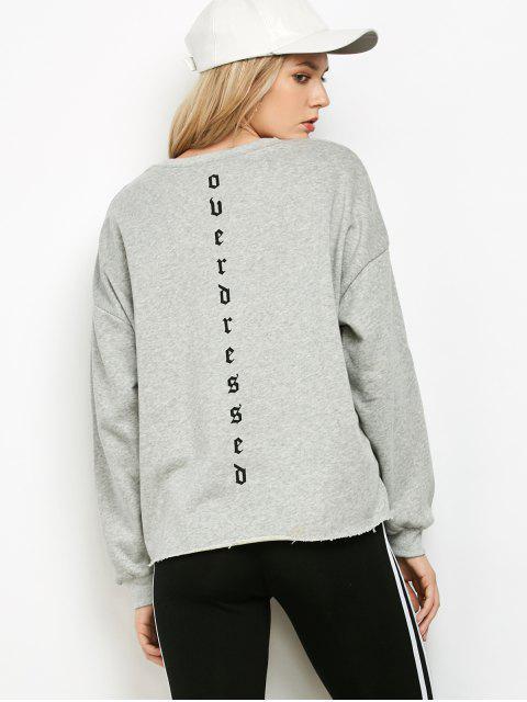 Lettre vrac Print Sweatshirt - Gris S Mobile