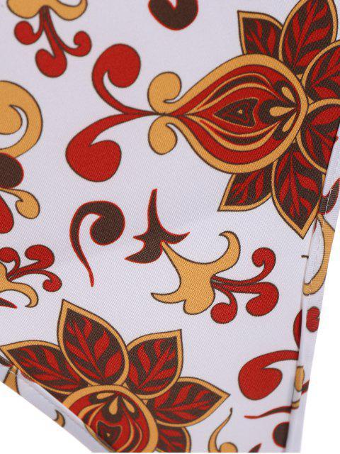 shop Floral Pattern Bodysuit - FLORAL XL Mobile
