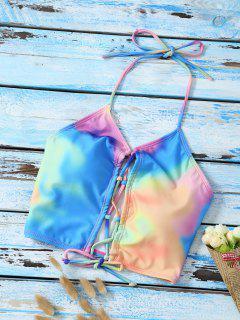 Haut De Bikini Teinté à Lacet Dos Nu - Multicouleur S