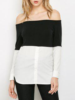 Off The Shoulder Top - White And Black Xl