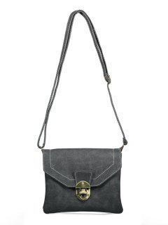 Detalle Cruzado De Metal Body Bag - Negro