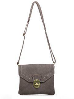 Metal Detail Cross Body Bag - Coffee