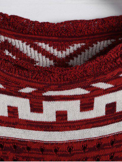 Robe à manches longues à manches longues géométriques - Clairet Taille Unique(S'adap Mobile