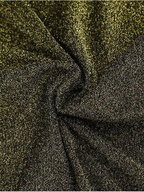 hot Glitter Tie Shoulder Slip Dress - BLUE S Mobile