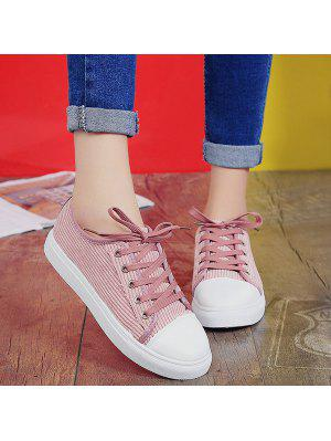 Lace Up Round Toe Canvas Sneakers