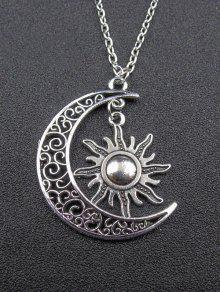 القمر قلادة قلادة الشمس - فضة
