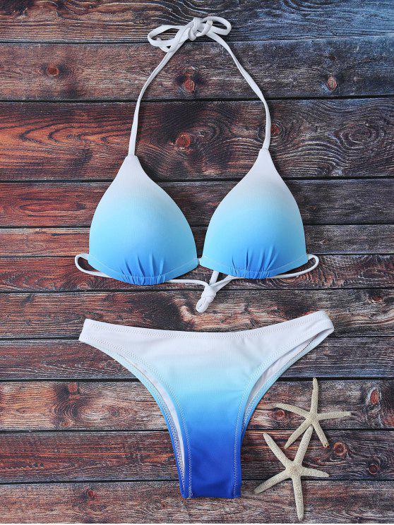 طباعة سحابة الرسن بيكيني مجموعة - الأبيض والأزرق M