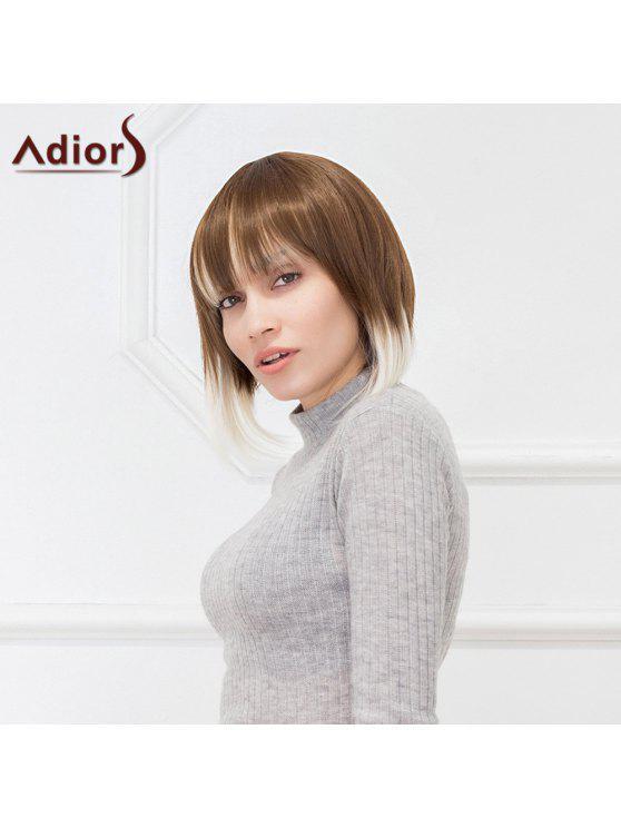Adiors الشعر القصير الانفجار الكامل مستقيم الألياف الاصطناعية شعر مستعار - مزيج ملون