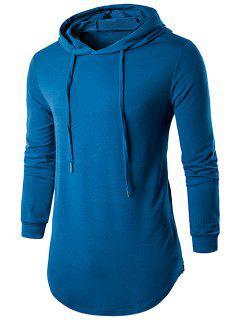 Capucha Con Cordón Camiseta Larga - Azul Zafiro L