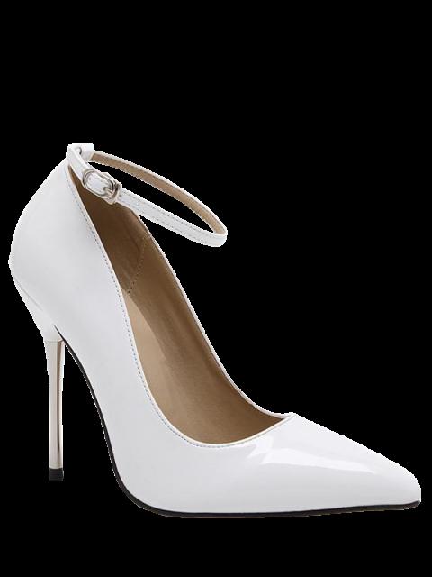 Ballerine talon aiguille en cuir verni - Blanc 40 Mobile