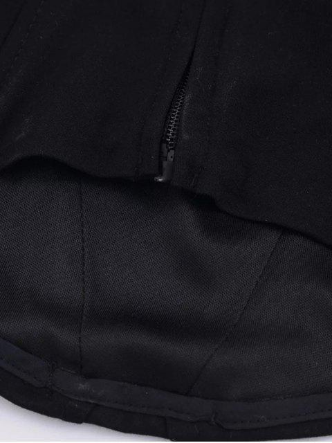 shop Strapless Corset Tank Top - BLACK S Mobile