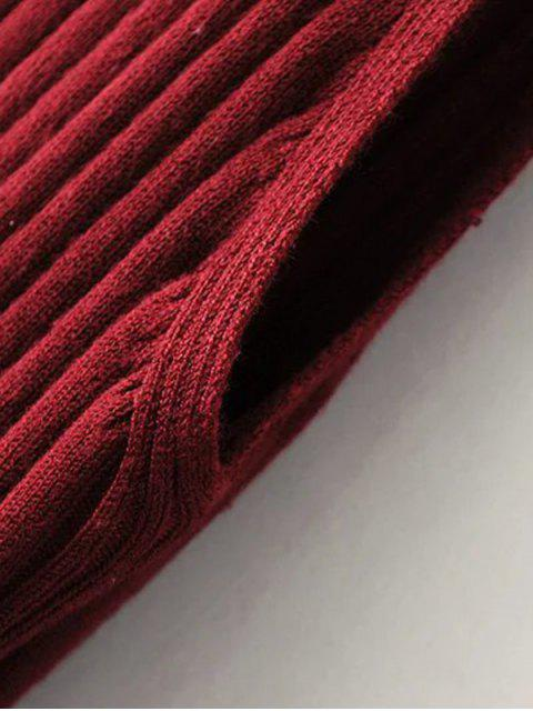 Robe ajustée côtelée fendue sans manches - Noir TAILLE MOYENNE Mobile