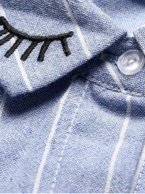 Chemise surdimensionnée à rayures - Bleu S Mobile