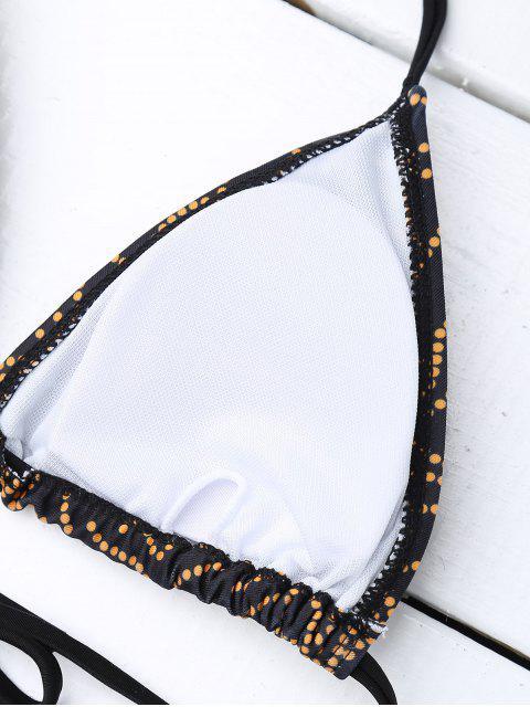 chic Print Cutout High Waisted Bikini Set - BLACK M Mobile