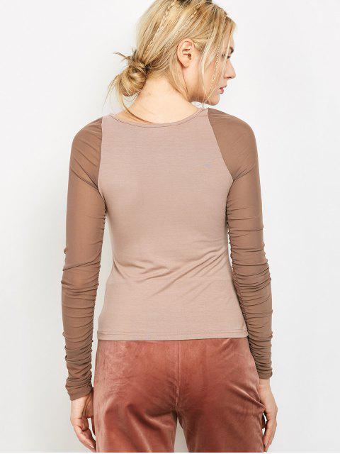 Top corset à manches longues - Clair Beige S Mobile