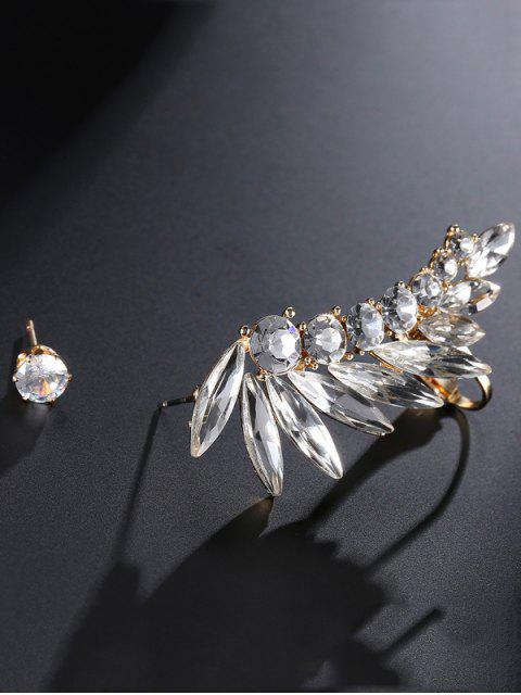 Boucles d'oreilles à strass fleur et fausse perle - Or  Mobile