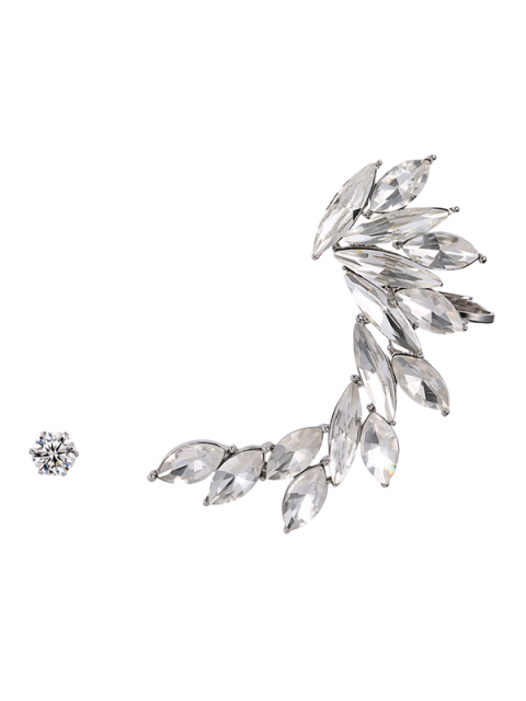 outfits Leaf Ear Cuff and Stud Earring - SILVER  Mobile