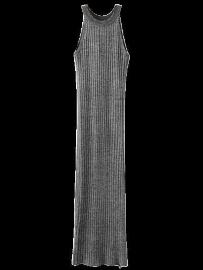 Sleeveless Ribbed Knitted Dress