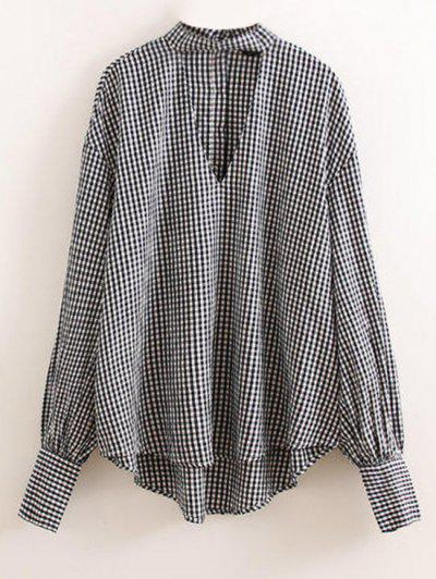 Checked Choker Top @...