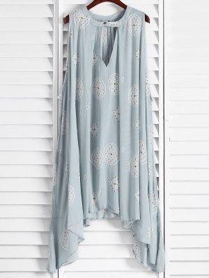 A ligne robe sans manches imprimé à motifs
