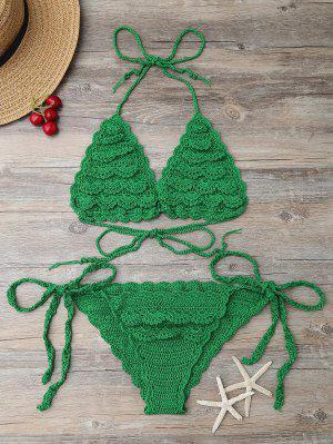 Cadena De Tejer Set Bikini - Verde