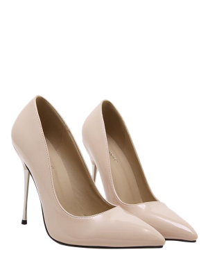 Stiletto Heel Patent Leather Pointed Toe Pumps