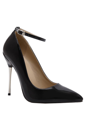 Knöchelriemen-Stiletto Lackpumps