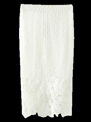 Ganchillo Del Cordón De La Falda Del Lápiz - Blanco S