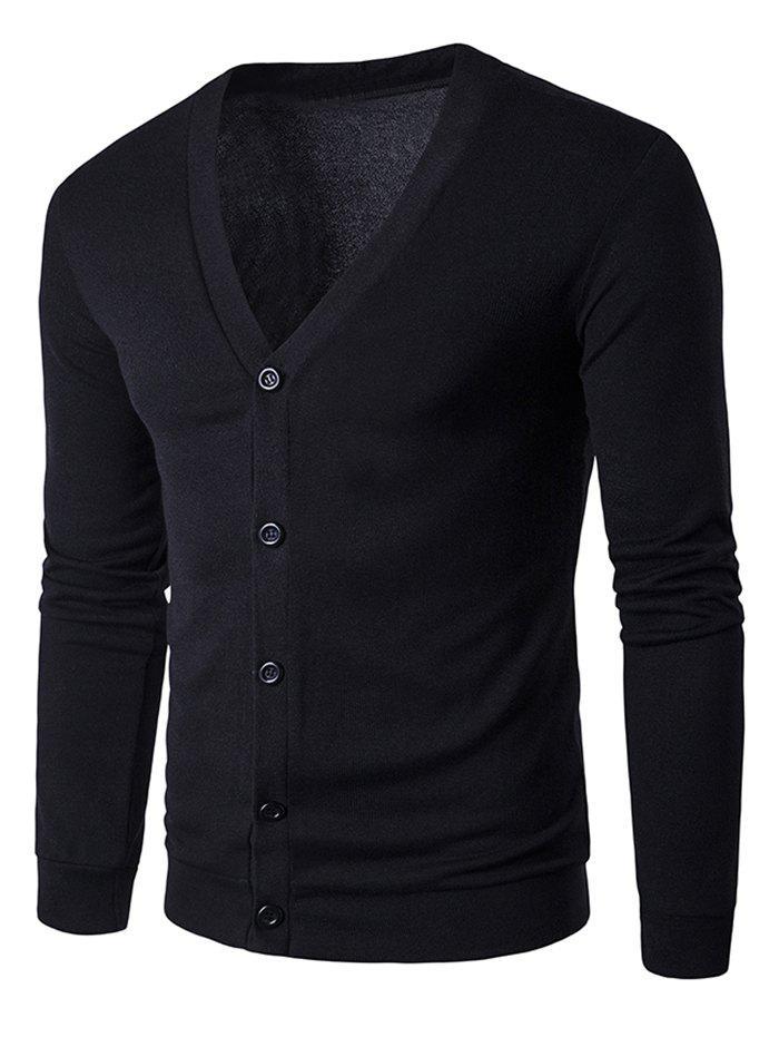 Manteaux en coton V Neck Button Up Cardigan